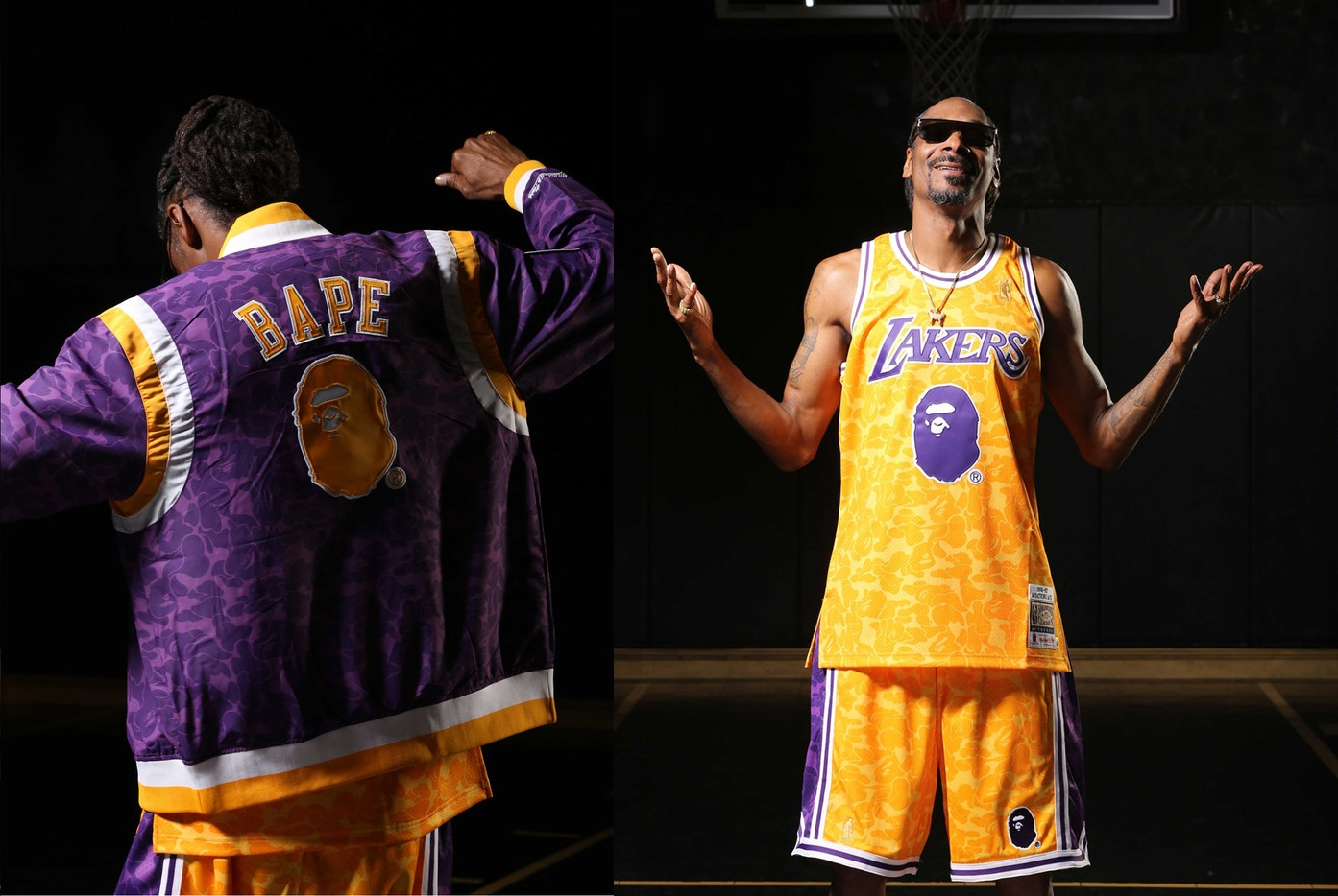 4dfd053a762 BAPE Linked up with Mitchell & Ness and Spalding for NBA-Focused Collection
